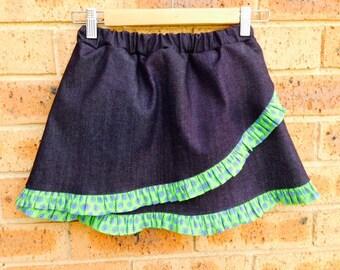 Handmade Demin Ruffle Skirt
