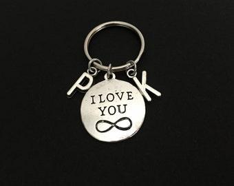 Infinity Key Chain.I Love You Infinity Key Chain. Initials Key Chain. Boyfriend Key Chain. Husband Key Chain. Relationship Key Chain.