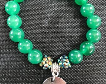 Green Lucky charm bracelet