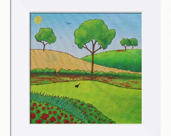 Summer Fields Picture - Limited Edition Fine Art Print, Original Artwork by Tracey Zorek