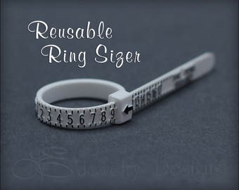 RING SIZER - adjustable ring sizer, reusable ring sizer, find ring size, US ring sizer, plastic ring sizer, ring size guide