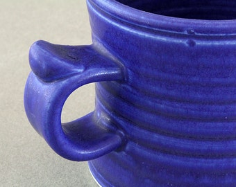 Porcelain MUG with Cobalt BLUE Glaze