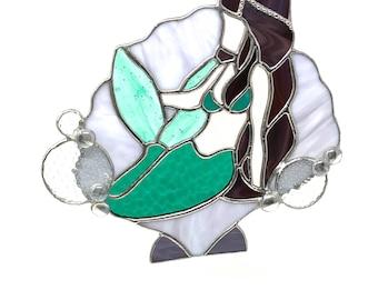 Mermaid | Stained Glass Mermaid | Sea Goddess | Ocean Fairy | Ocean Mermaid I Sea Nymph