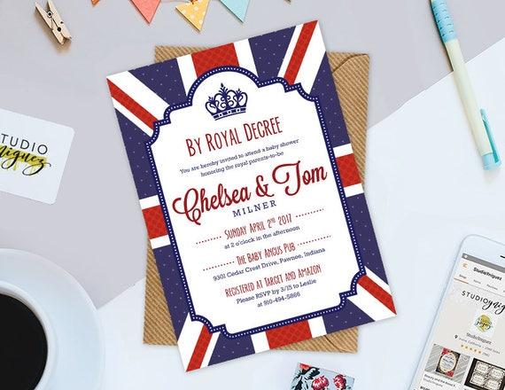 Königliche britische Baby-Dusche Einladung durch königliche