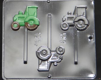 Tractor Lollipop Chocolate Candy Mold 3439