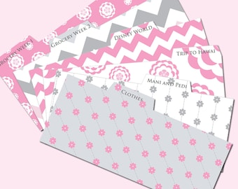 Printable Cash Envelope System Navy And Pink By Pretty - Budget envelopes template