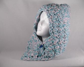 Chunky hooded cowl, chunky knit yarn, chunky scarf, kids hooded cowl, oversized scarf, chunky knit, chunky scarf, handmade snoodie, winter