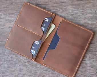 Leather Passport Wallet, Distressed Leather, Passport Holder, Leather Passport Cover, Travel Wallet, passport case, personalized