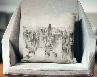 Empire State Building Pillow | New York Pillow | NYC Pillow | New York Skyline Pillow | Manhattan Pillow | New York Home