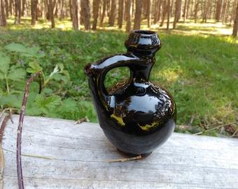 Vintage Handmade Small Jug /  Decorative Ceramic Pitcher / Glazed Pottery / Bulgarian Pottery Souvenir /  Decorative Ceramic Souvenir