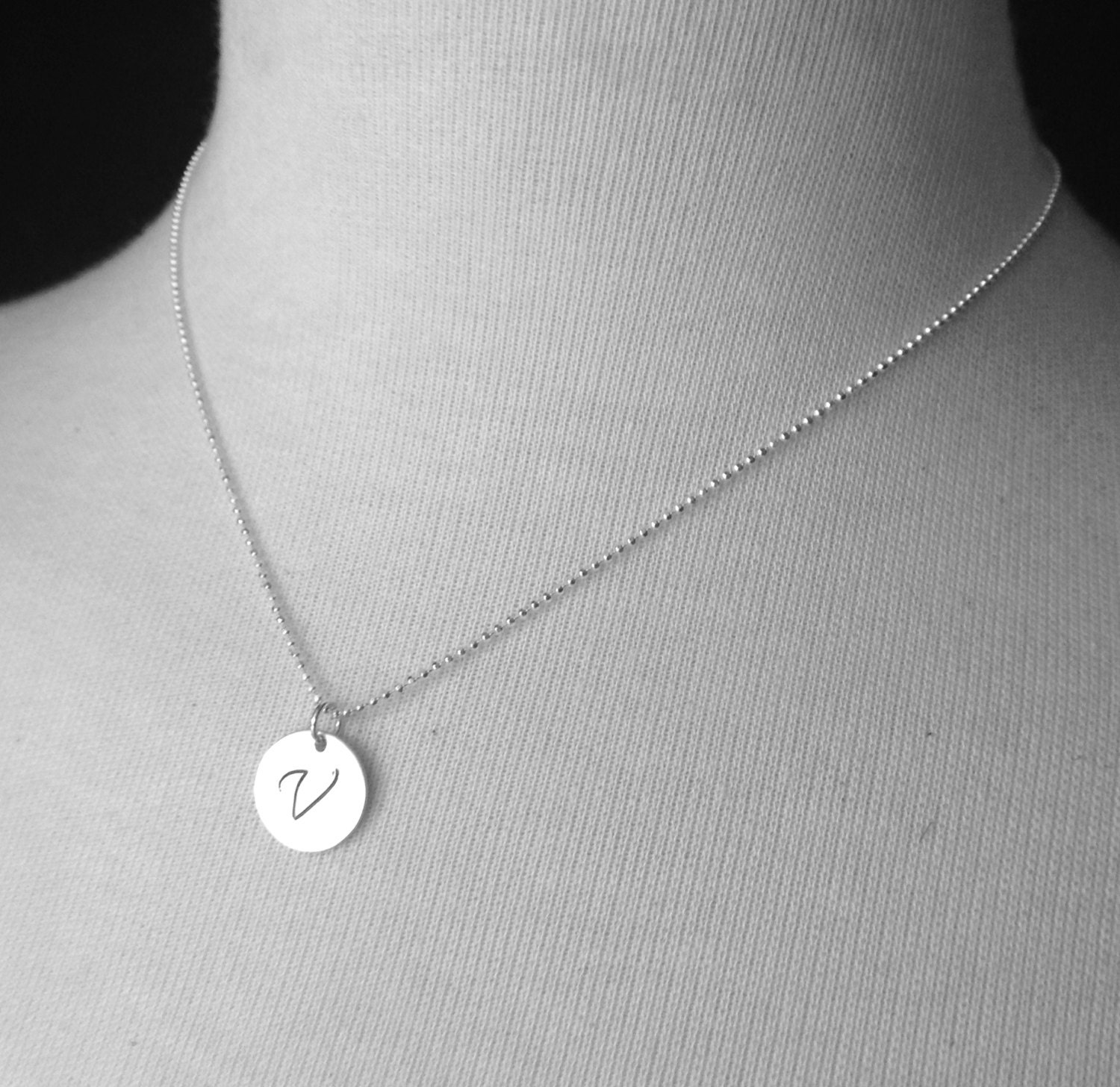 Large initial necklace sterling silver initial necklace zoom aloadofball Images