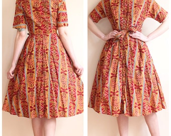 1950s Dress // Campus Girl of Summer Dress // vintage 50s dress