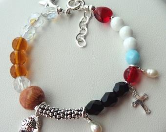 Story Of Jesus Children Bracelet, Story of Jesus Christ Bracelet, Christmas Story of Jesus Bracelet, The Life of Christ Bracelet