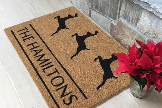 Christmas Gift / Door Mats / Custom Doormat / Personalized Doormat / Holiday Doormat / Reindeer / Hostess Gift / Welcome Mat / Gift Ideas