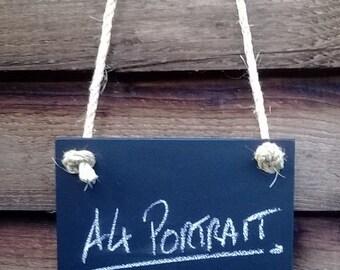 A4 Portrait Double sided Chalkboard - Hanging Frameless Blackboard