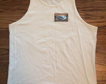 Vintage 1980's/90's hawaiian surf tank top men's or women's size Large