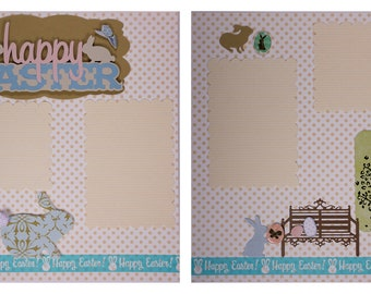 Pre-made Scrapbook Pages: Happy Easter #12