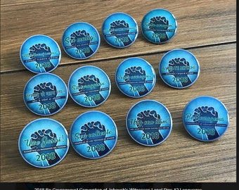 "10 PIECES OF ""'Be Courageous'!"" 2018 Convention of Jehovah's Witnesses rounds pins"