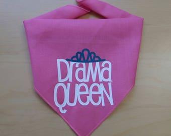 Drama Queen Dog Bandana- Small