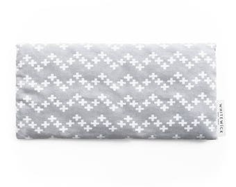 Lavender Scented Wheat Heat Pack/Bag (Therapeutic) - Rectangle Grey Crosses