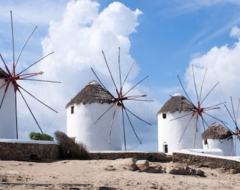 Windmills of Mykonos Landscape Photography travel photo fine art