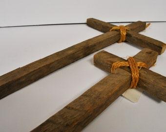Rustic Tobacco Stick Cross