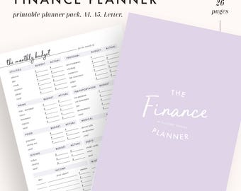 finance planner, budget planner, financial planner, finance binder, printable planner, finance organizer, planner inserts, personal finance