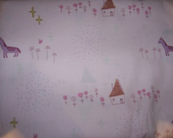 Yuwa Megumi Sakakibara Pink Uma Japanese fabric 1/2 Yard