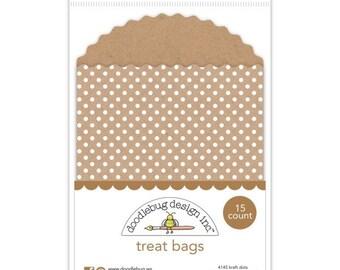 Treat Bags (Kraft Dots) from Doodlebug - 15 Quantity