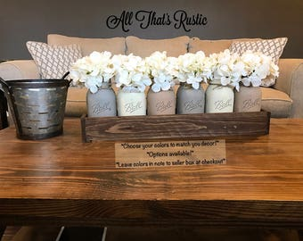 Large Mason Jar Centerpiece, Table Centerpiece, Table Decor, Kitchen Decor,  Rustic Home