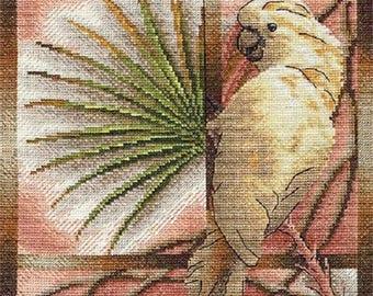 Cross Stitch Kit White parrot