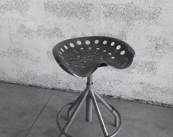 Vintage industrial stool tractor seat