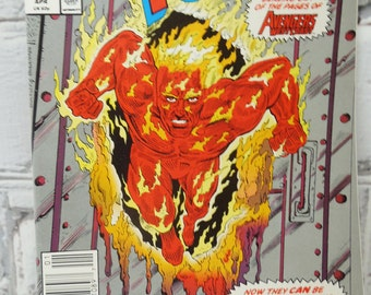 Vintage Human Torch Comic Book. Volume1. Number 1990.  Marvel Comics Group. Modern Age Comic Book. Geekery. Gifts for Guys. Collectible.