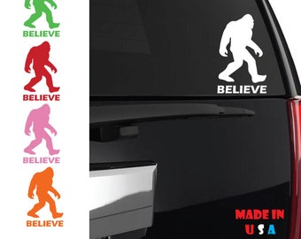 Sasquatch Believe decal evolution theory science bigfoot funny movie squatchin iphone ipad case phone car truck window vinyl CUSTOM ANY SIZE