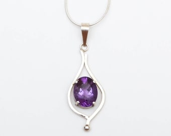 Use Code NEXT0RDER to get 10% off+ Free Shipping Amethyst Pendant, Amethyst Jewelry, Gemstone Pendant, Handmade Jewelry