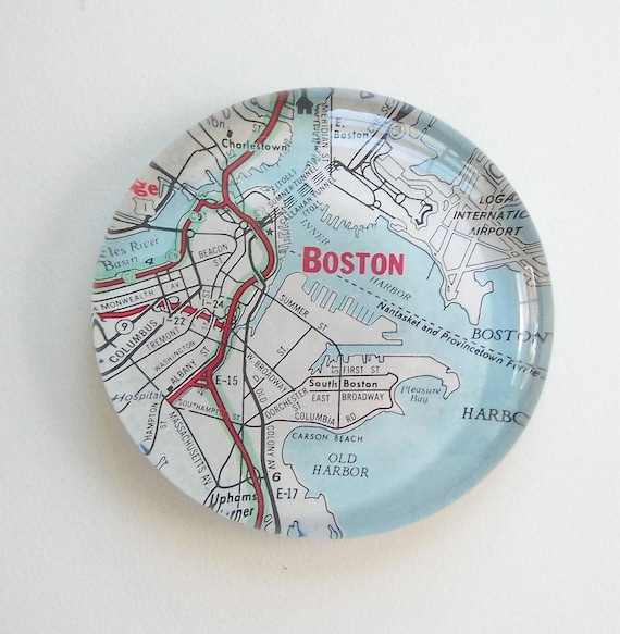Vintage Map Paperweight choose your Region great guy gift