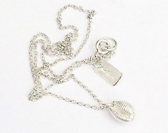 Silver Necklace - Sterling Silver Necklace - Silver Cowrie Shell Necklace - Silver Shell Necklace - Shell Necklace - Cowrie Shell necklace