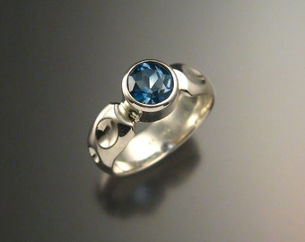 London Blue Topaz ring Sterling Silver made to order in your size