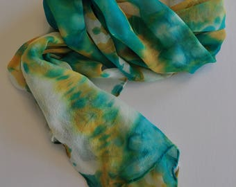 Turquoise Tye Dye Scarf