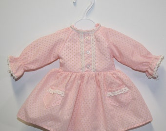 Group of 3 sweet doll dresses; small doll; Spring, Summer and Fall; vintage doll clothes