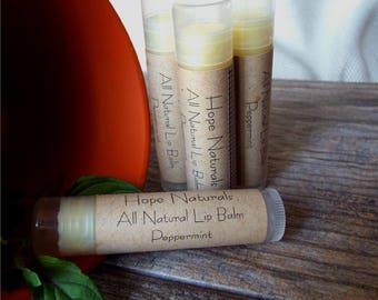 4-Pack All Natural Peppermint Lip Balm