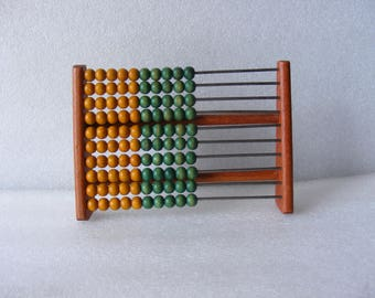 Vintage Wooden Abacus Wooden Calculator School Abacus Old wooden toy