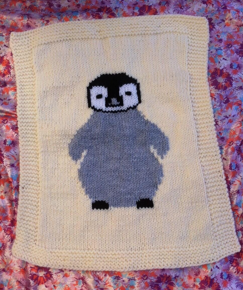 Penguin baby blanket/comfort blanket knitting pattern from ...