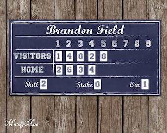 Sports Scoreboard Banner, Baseball Party Decor, Baseball Party Banner, Digital File