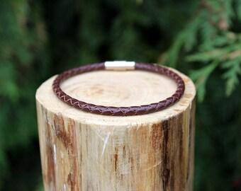 Brown Braided Leather Bracelet, Leather Bracelet, Braided Leather, Braided Bracelet, Brown Leather, Mens Bracelet, Womens Bracelet