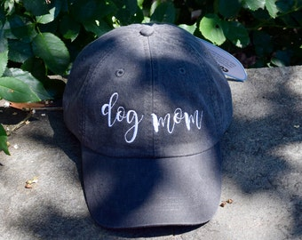 Dog Mom Baseball Cap     Custom Personalized Gift by Three Spoiled Dogs     Made in USA
