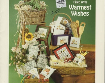Gift Baskets Filled With Warmest Wishes Cross Stitch Book --Sue Hillis Designs -- B134
