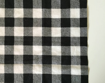 Black and white large plaid receiving blanket