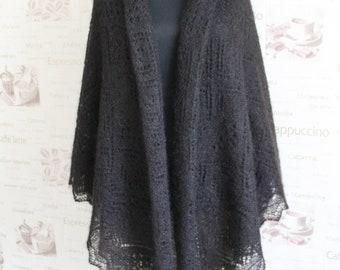 Shawl  Knit shawl brown hand knit shawl lace shawl  Knitting Shawl Hand Knitting gift presents Accessory womens shawl shawls and scarves