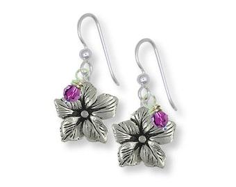 Drummond Phlox Earrings Jewelry Sterling Silver Handmade Flower Earrings DX1-BDE